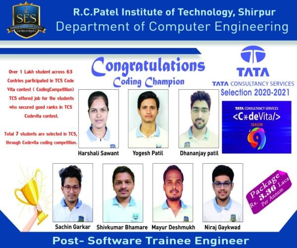Placement through TCS C*deVita Contest 2020-21