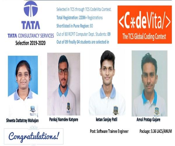 Placement through TCS C*deVita Contest 2019-20