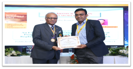 """Awarded as """"Sir Arthur Cotton Memorial Prize"""" by """"The Institution of Engineers (India)""""at 32nd Indian Engineering Congress held in Chennai dated 21-23 December, 2017 for research paper entitled"""